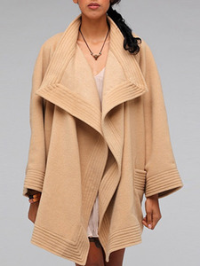 Camel Organic Wool Cape Coat