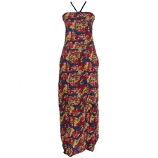 Flower Print Maxi Dress