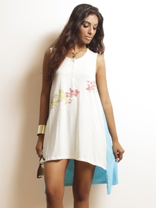 Shell Button Tank Dress
