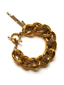 Vintage Charm Gold Bracelet