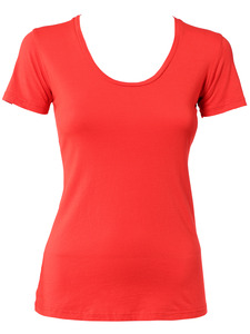 Modern Red&lt;br/&gt;Scoop Neck Tee