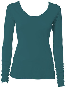 Vivid Scoop Neck<br/>Long-Sleeve Tee