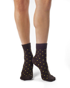 Jo Organic Cotton Polka Dot Anklet Sock