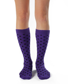 Betty Organic Cotton Polka Dot Knee High Socks