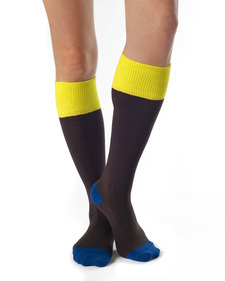 Hazel Organic Cotton Contrast Knee Socks