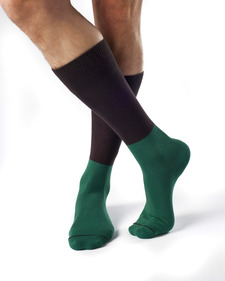 Billy Organic Cotton Color Block Dress Socks