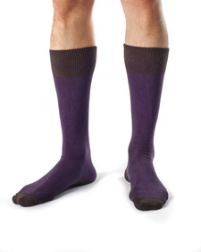Hank Organic Cotton Tri Color Block Dress Socks