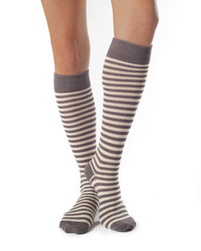 Annabel - Striped Organic Cotton Knee High Sock