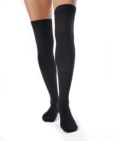 Ivy - Organic Cotton Thigh High Socks