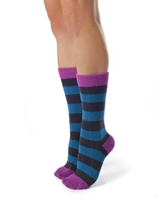 Lila - Striped Organic Cotton Socks