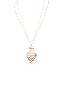 Geometric Cutout Necklace