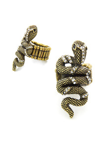 Embellished Snake Ring