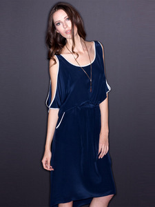 Silk Sharon Cutout Shoulder Dress
