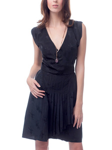 Black Vintage Silk Kate Dress
