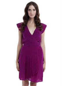Magenta Vintage Silk Kate Dress