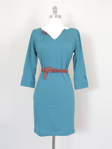 Maria Shriver Pintuck Dress