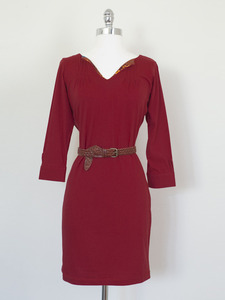 Geena Davis Pintuck Dress