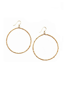 Bright Dawn Gold Hoop Earrings