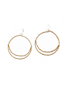Eclipse My Mind Gold Earrings