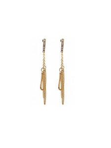 Collinear Chain Earrings
