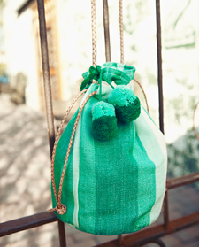 Gradient Mint Small Bucket Bag