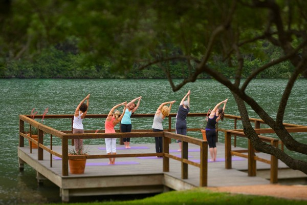 Outdoor Yoga Lake Austin Spa Resort