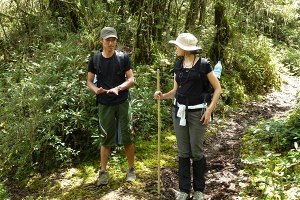 Bhutan hikers