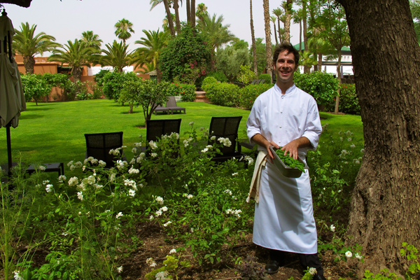 Chef in the Garden
