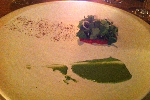 Tartare with wood sorrel