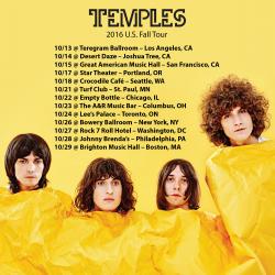 Temples 2016 U.S. Fall Tour