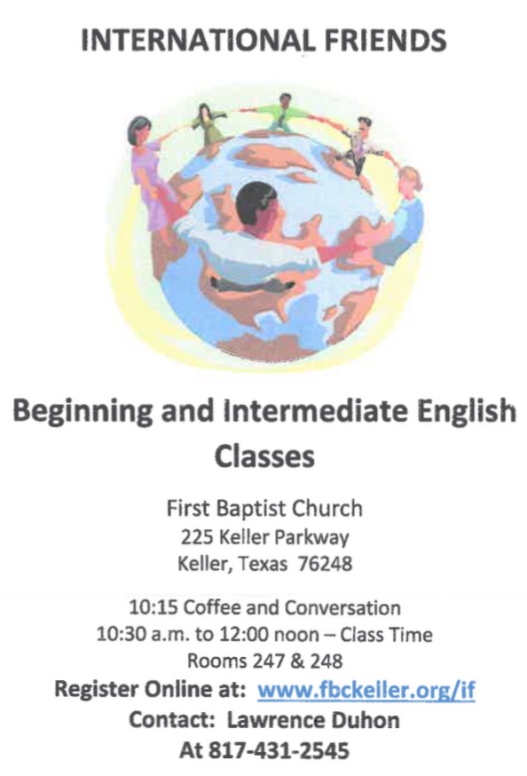 ESL Classes at FBCK