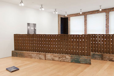 "Installation view of ""Six Doors"" in the Other Room, 2015. Photo by Brad Farwell."