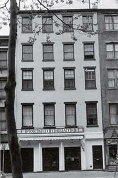 Exterior of the Pocket Theatre, 100 Third Avenue, New York, c. 1963. Photo courtesy Lewis Lloyd.