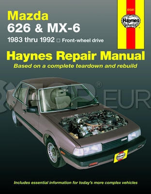 Contents contributed and discussions participated by michael bunker mazda mx 6 gt 1988 repair manual fandeluxe Images