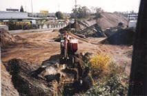Digging peat