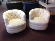 2 matching swivel chairs