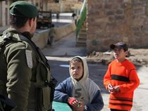 Children and IDF soldier