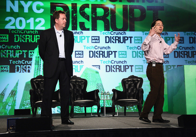 U.S. CIO Steven VanRoekel and CTO Tood Park at TechCrunch Disrupt NYC 2012, May 22, 2012. (Photo: Paul Zimmerman/Getty Images for TechCrunch/AOL)