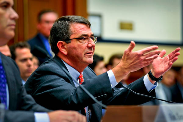 Deputy Defense Secretary Ash Carter testifies on options for implementing sequestration and its effects on the nation's defense in a hearing before the House Armed Services Committee in Washington, D.C., Aug. 1, 2012. (Photo: DOD/Glenn Fawcett)