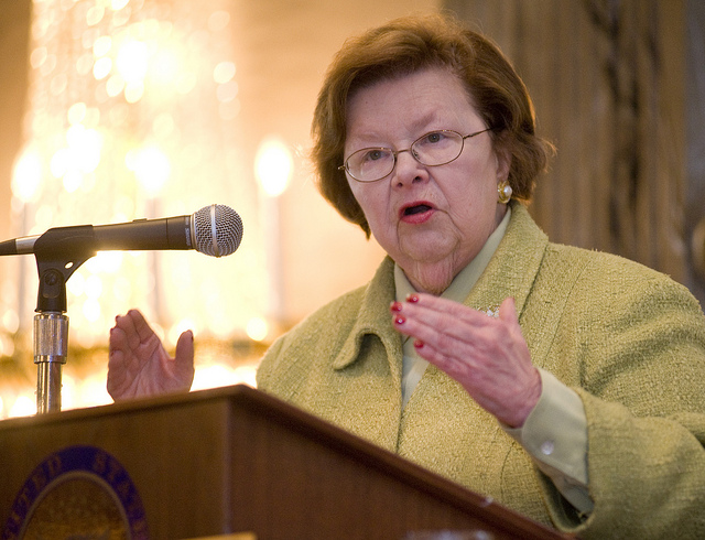 Senator Barabara Mikulski (Photo: NASA/Goddard Space Flight Center/Bill Hrybyk)