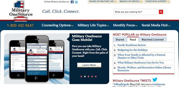 Military OneSource (Source: militaryonesource.mil)