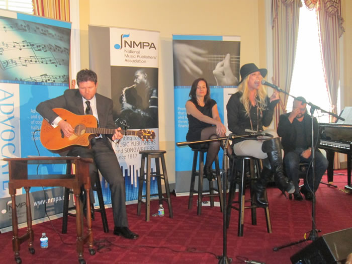 Hit songwriters perform on Capitol Hill Wednesday in support of intellectual property rights (Photo: Patra Wroten)