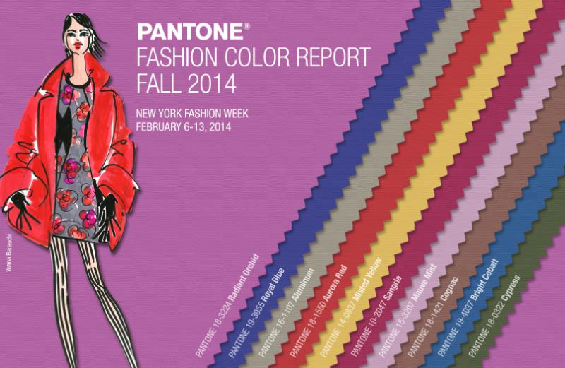 PANTONE LLC ANNOUNCES COLOR REPORT FALL 2014