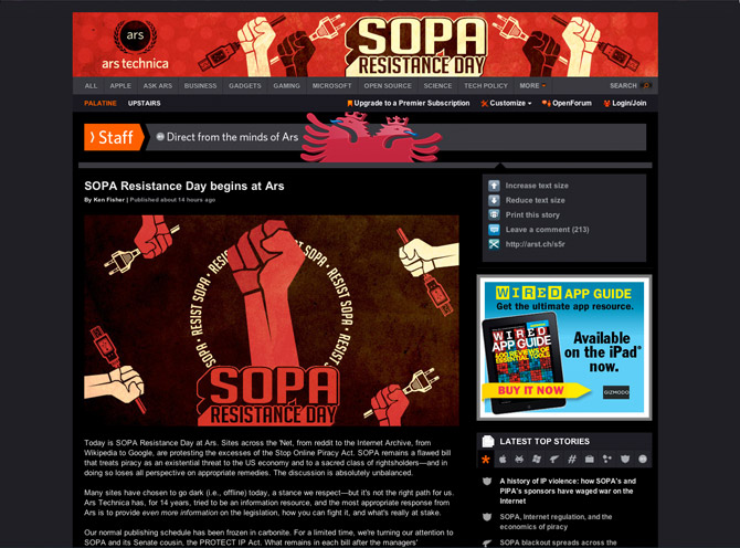 Anti SOPA - Ars Technica