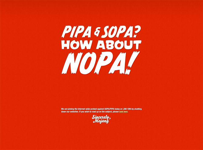 Anti SOPA - Minecraft