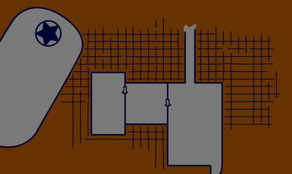 image with digital grid