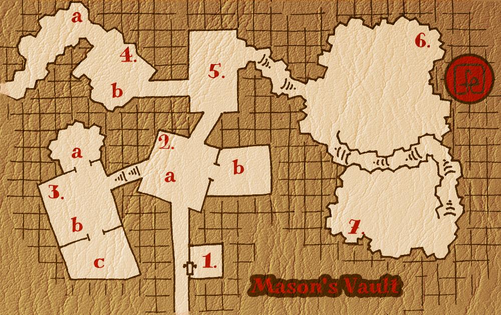 the masons vault keyed map