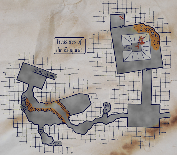 Treasures of the Ziggurat player map