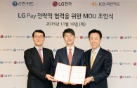 Shinhan Card and KB Kookmin Card to prepare for the launch of LG Pay
