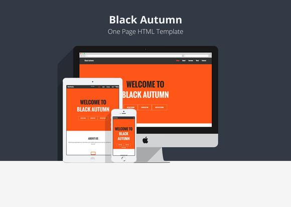 Black Autumn One Page Template